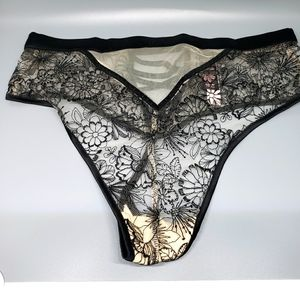 Victoria's Secret criss cross embroidered thong